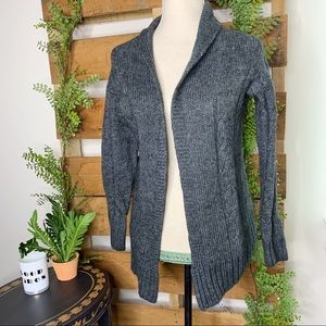 Mossimo | Gray Knit Open Sweater